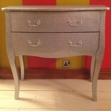 SILVER DIAMONTE FRENCH STYLE CHEST OF DRAWERS - BLING - SPARKLEY