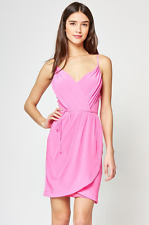 NWT $198 Yumi Kim Jayne Silk Dress in Hot Pink Sz XS