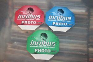 Incubus  - 3x unused Backstage Pass - Lot # 01     - FREE POSTAGE --