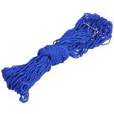 Azul Hamaca de nylon Red de malla colgante Cama de dormir Oscilacion Viaje  J5J2