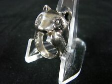 Sterling Silver Raccoon Wildlife Animal  Ring  Marked 925