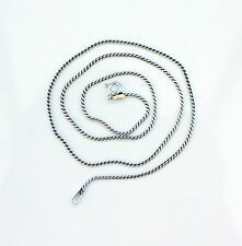 Noble Jewel Genuine 925 Sterling Silver 1mm Serpentine Chain Necklace
