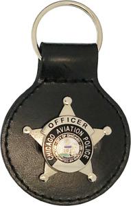 CHICAGO AVIATION POLICE STAR KEY FOB: Officer