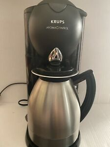 Krups Aroma Control Coffee Maker With Thermal Carafe 10 Cup Model 229- Works!