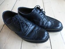 HAND MADE BLACK LEATHER BROGUES BY GRENSON OF ENGLAND SIZE 8 G UK