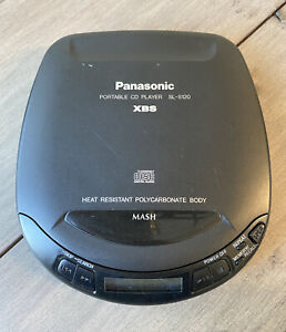 Vintage 1997 Panasonic Portable CD Player SL-S120 XBS Black TESTED AND WORKS!