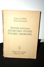 SŁOWNIK MINIMUM ANGIELSKO-POLSKI, POLSKO-ANGIELSKI - 1988, POLISH BOOK _________