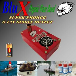 RC Smoke Generator BluX Water Based Single Outlet  6-12V  Boats Trucks Tanks