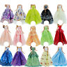 Random 5 Wedding Party Dress Princess Gown Clothes for 12 in. Girl Doll Toy Gift