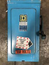 Square D 100 Amp Disconnect 600 Vac Non Fusible