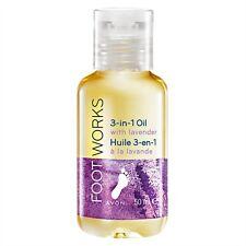 Avon Footworks 3 in 1 Oil with Lavender 50ML    Soak, Massage, Moisture feet X 3