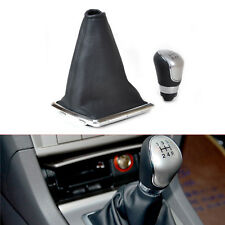 Black 5 Speed Gear Shift Knob Gaitor Gaiters Boot Cover fit for 05-18 ford Focus