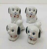 4 Vintage Mr Puppy Dog Figurines made in China Bow Ties Mustaches