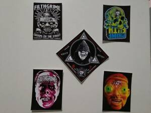 5 x FILTH GRIME STREET CULT STICKER PACK - 10x7cm aprox. - STREET ART - GRAFFITI