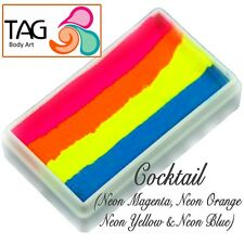 TAG Body Art One Stroke Professional Face Paint Cake (30g) ~ Cocktail