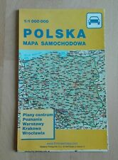 Straßenkarte Polen Karte Landkarte Mapa Samochodowa Polska 1: 1 000 000