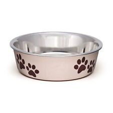 Loving Pets Bella Bowl Paparazzi Pink Small   Stainless Steel Dish for Dogs