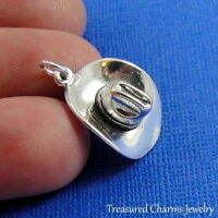 .925 Sterling Silver COWBOY HAT CHARM Texas COUNTRY WESTERN Rodeo PENDANT