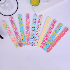 10 x Colorful Nail Files Sanding for Nail Art Tips Manicure Art Sanding Buffer