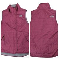 The North Face Quilted Puffer Vest with Fur Lining Womens Size XS Zip Polyester