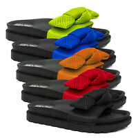 Ladies Womens Flat Slip On Platform Sliders Sandals Slippers Size 4 5 6 7 8 9
