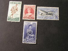 NEW ZEALAND, SCOTT # 301+302-304(3) 1953-57 10/- VALUE QE2+ POSTAGE STAMP USED
