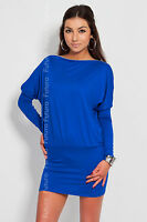 Gorgeous Women's Dress with Zipper on Shoulder Open Tunic Size 8 - 18 8440