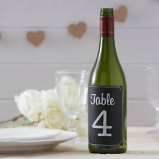 TABLE NUMBERS 1-12 Chalkboard bottle stickers Wedding Table Decor