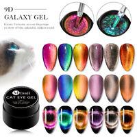 MTSSII 9D Cat Eye Gel Nail Polish Chameleon Magnetic Gel Varnish Soak Off 6pcs