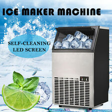 Built-In Stainless Commercial Ice Cube Maker Portable Ice Machine Restaurant