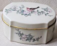 Beautiful Vintage Ivory Colored Lenox Trinket Box & Lid in the Serenade Pattern