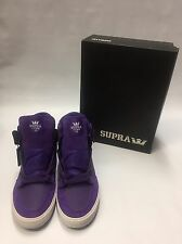 SUPRA VAIDER High Top Skate Shoe - Men's Purple-white S28108 *NEW*