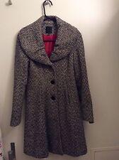 Express wool coat,black/white,sz.XS