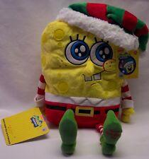 "Macys Spongebob Squarepants Christmas Elf Spongebob 12"" Plush Stuffed Animal Toy"
