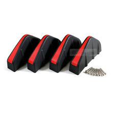 Rear Bumper Diffuser Molding Point Garnish Air Spoiler Lip Black Red For JAGUAR