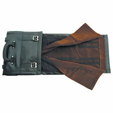 """8"""" X 12"""" Knife Roll Black Vinyl Storage Carrying Case Holds Up To 60 Knives"""