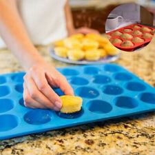 Bakeware Mini Cookies Pan 24 Cup Silicone Cupcake Cavity Tray Muffin Mould