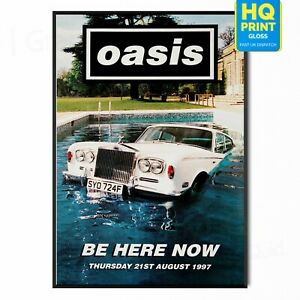 OASIS BE HERE NOW POSTER PRINT MUSIC VINTAGE ALBUM   A5 A4 A3  
