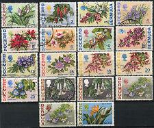 Flowers Used Bermudian Stamps