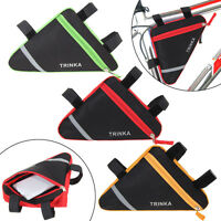Triangle Cycling Bike Bicycle Front Tube Frame Holder Pouch Saddle Bag Panniers