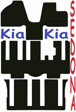 Kia Sedona Tailored car mats ** Deluxe Quality ** 2012 2011 2010 2009 2008 2007