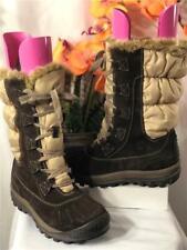 TIMBERLAND Women's Brown Suede/ Cream Nylon High Top Fur Winter Boots US8/ EU39