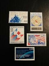 Timbre De France, NEUFS**, N2549, 2552,2555,2556,2559, Année 1988