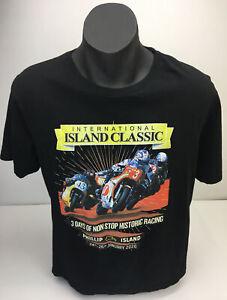 International Island Classic Phillip Island Mens Black T Shirt Sz L Tag Circuit