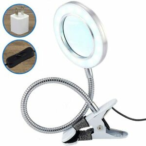 7W Fixable LED Magnifying Tattoo Lamp with Clamp 6X Glass Magnifier Light Table