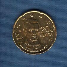 Gréce - 2008 - 20 centimes d'euro - Pièce neuve de rouleau -