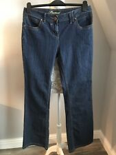 Ladies Debenhams Bootcut Stretch Jeans Dark Blue Size 12 Excellent condition