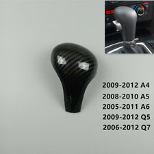 Car Gear Shift Knob Head Trim For Audi A4 B7 A5 A6 C6 Q5 Q7 Carbon Fiber Color