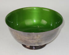 Mid Century Modern Reed & Barton Green Enamel Silverplate Bowl # 105