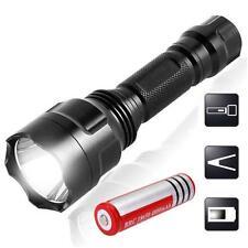2200LM  Q5 LED C8 Flashlight Torch Lamp Light + 18650 Battery @T
